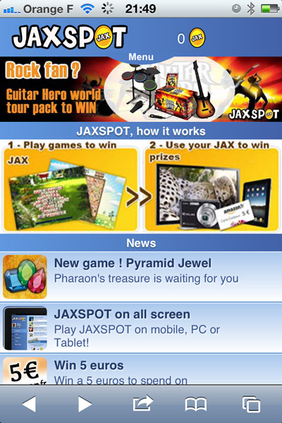 jaxspot_menu